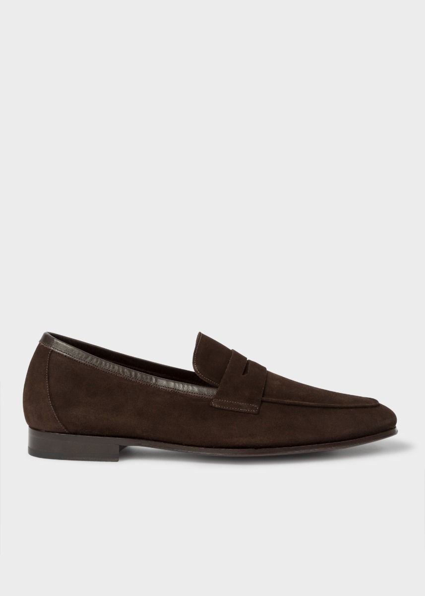 Paul Smith Men's Brown Suede 'Glynn' Penny Loafers