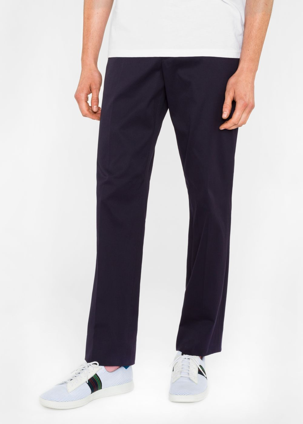 Paul Smith Men's Standard-Fit Navy Cotton-Twill Stretch Chinos
