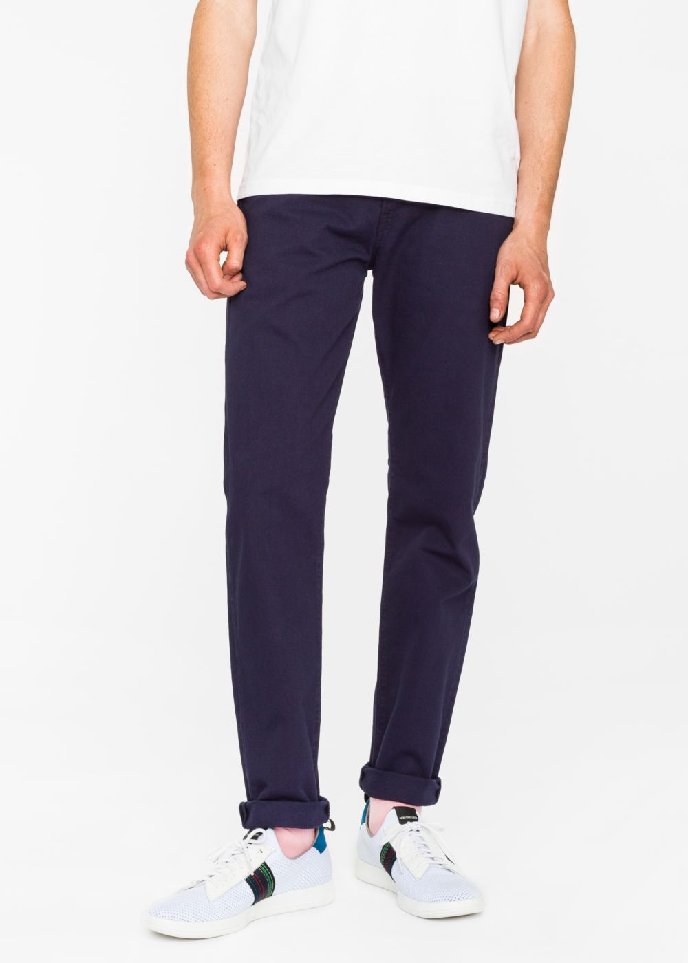 Paul Smith Men's Tapered-Fit 9oz Garment-Dye Navy Denim Jeans