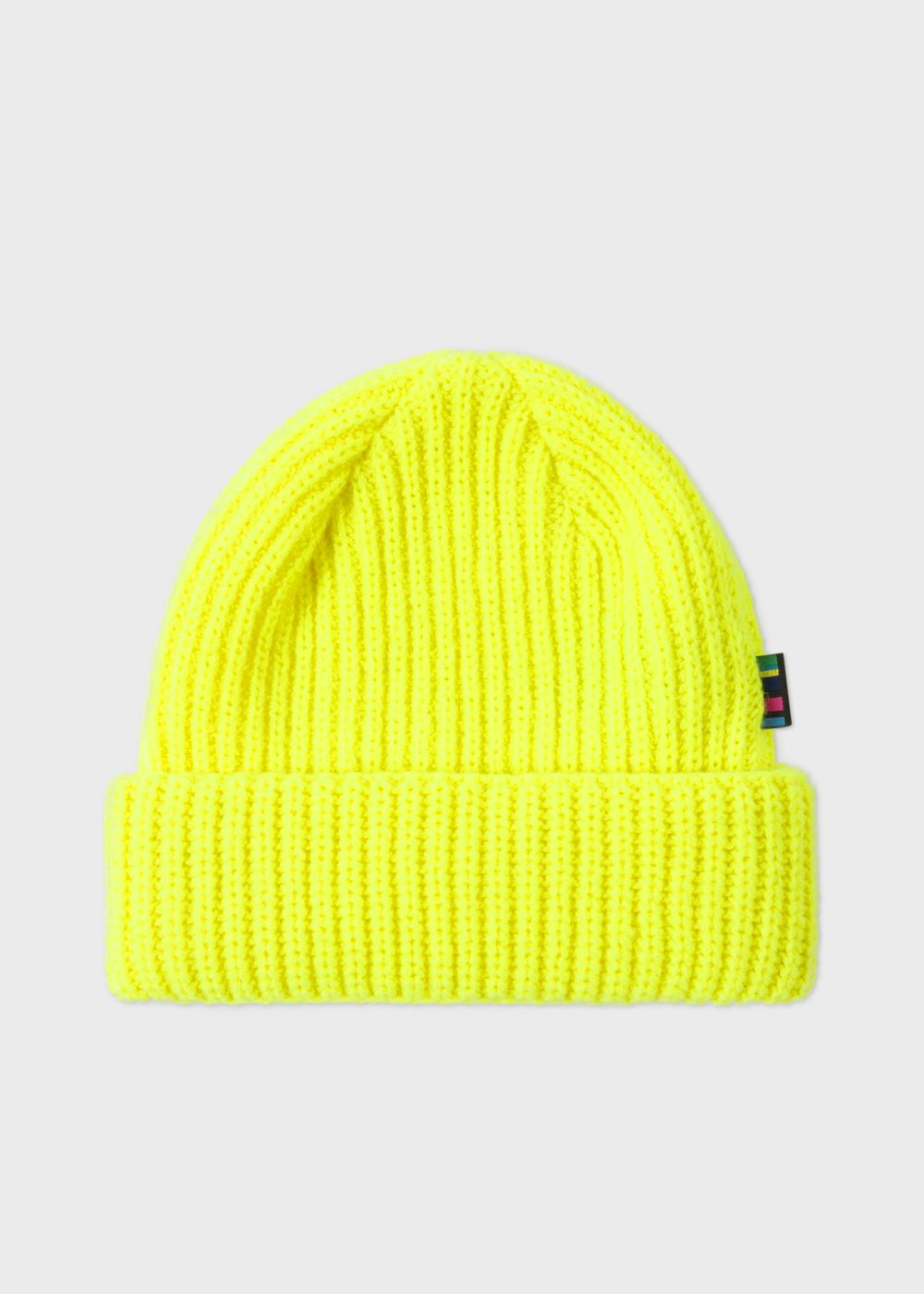 Men s Neon Yellow Wool Beanie Hat by Paul... — Thread d927c3219f3