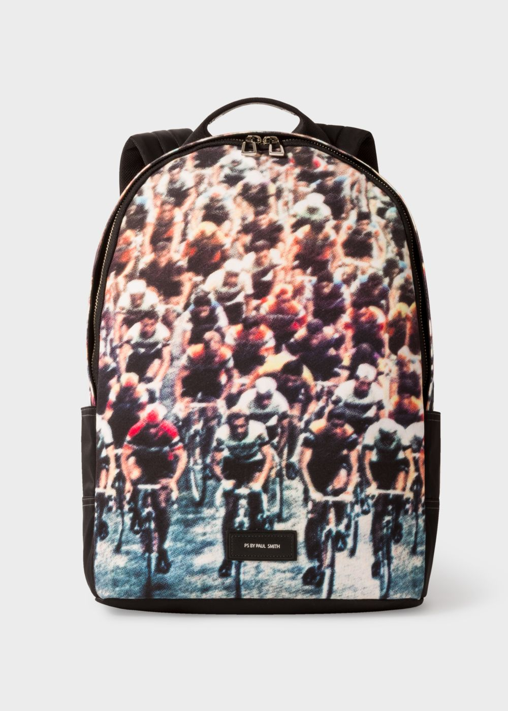 Paul Smith Men's Canvas 'Cycling' Print Backpack