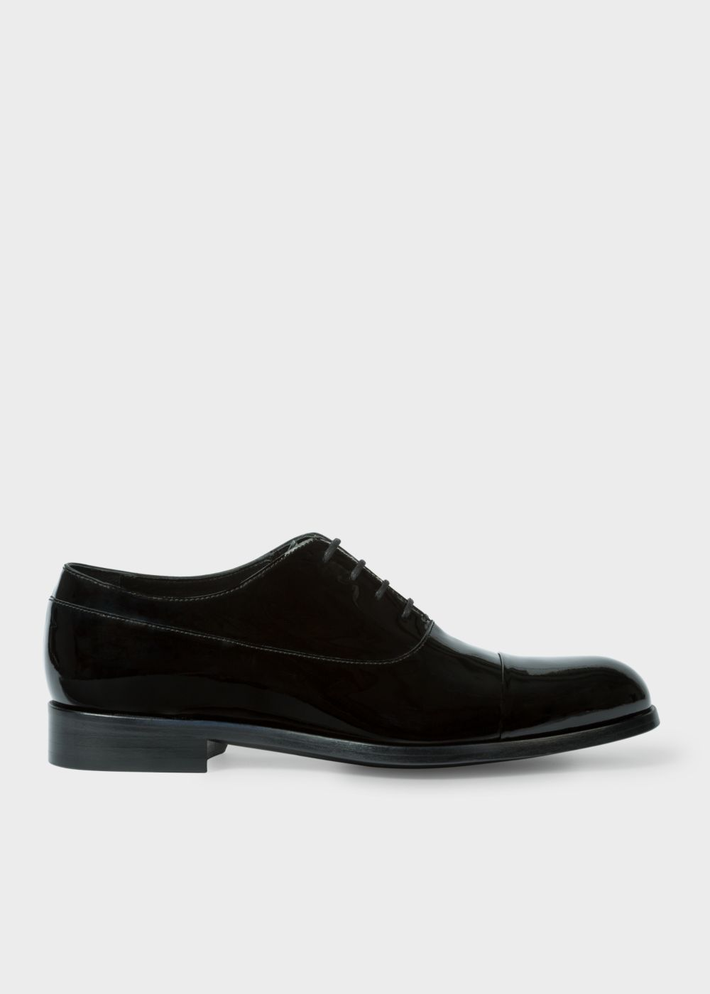 Paul Smith Men's Black Patent-Leather 'Noble' Oxford Shoes