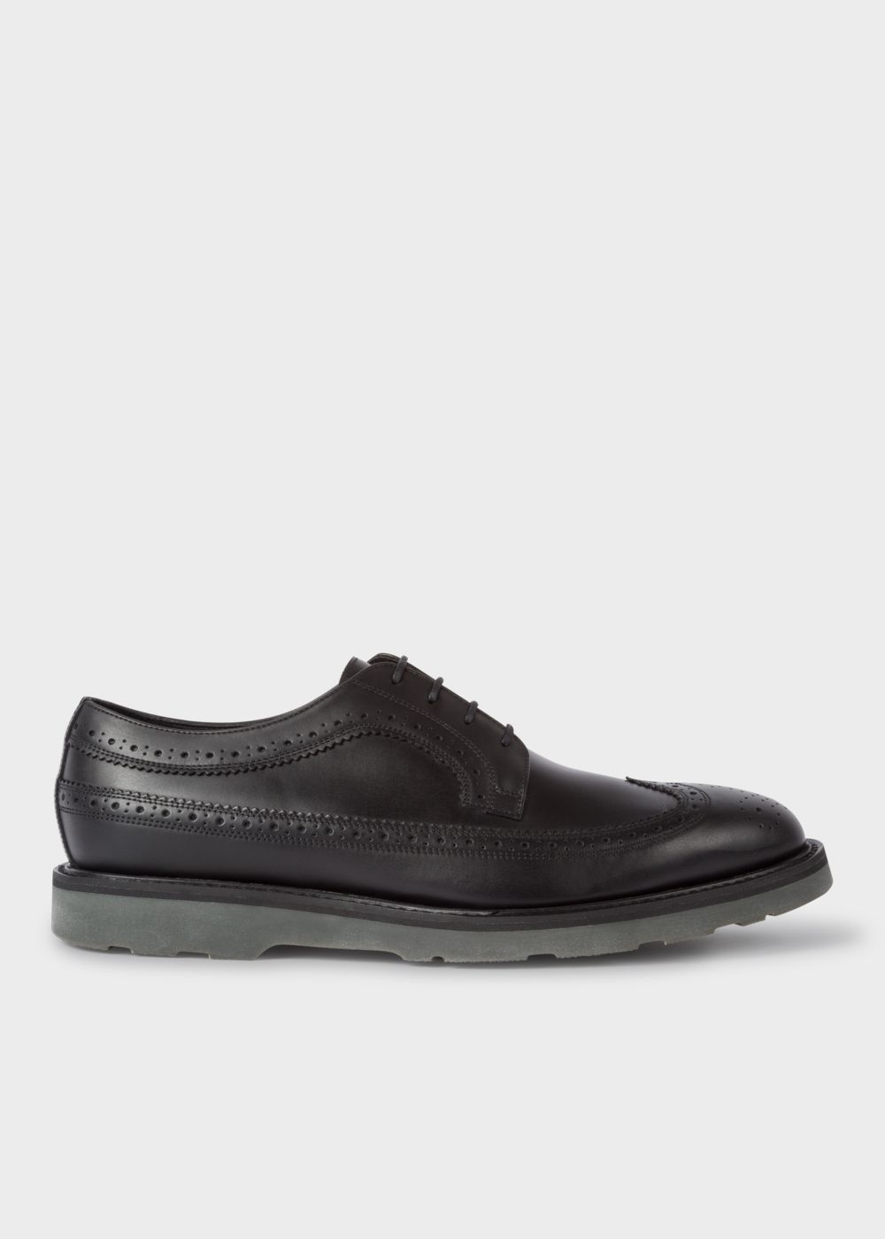 Paul Smith Men's Leather Black 'Grand' Brogues