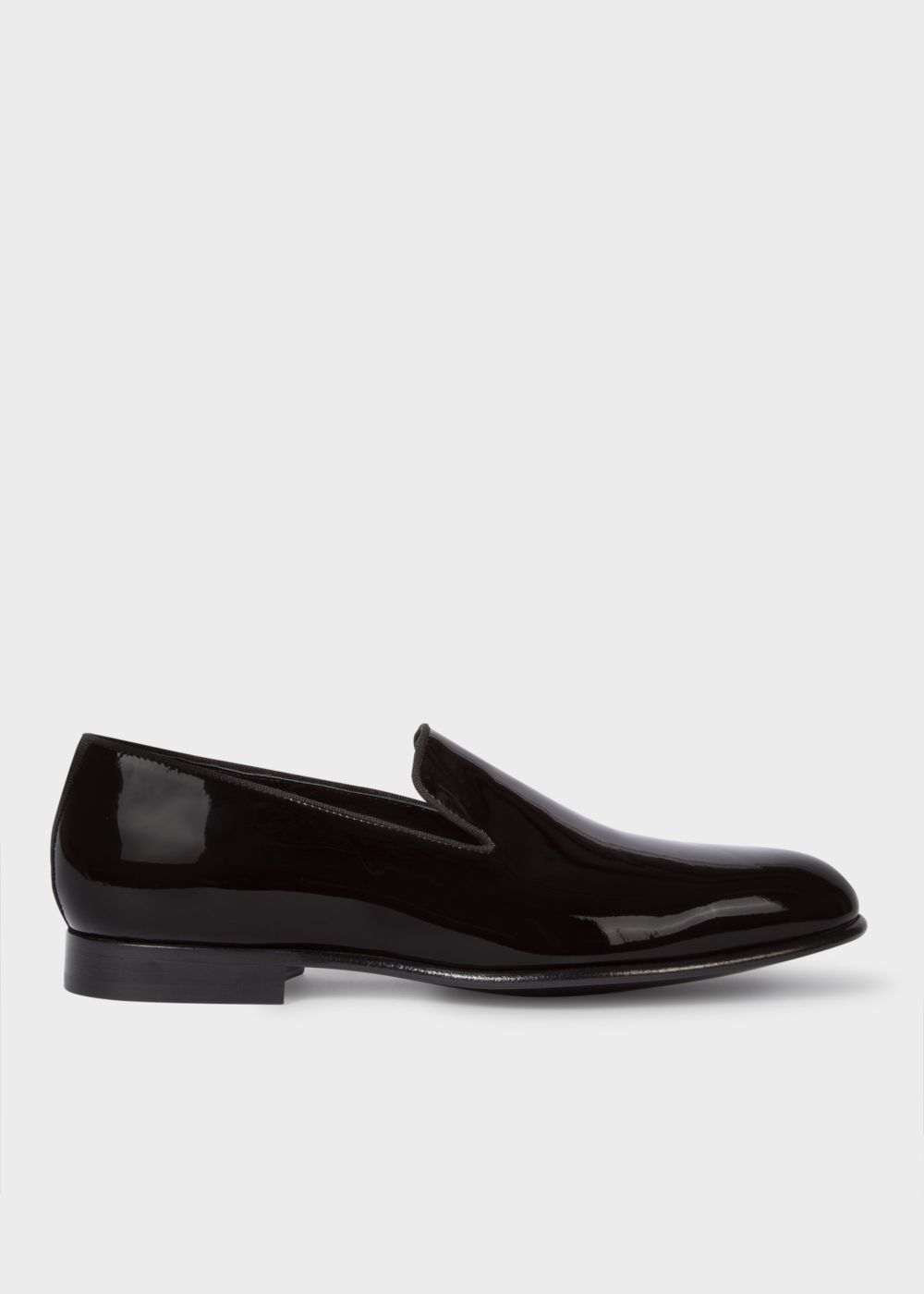 Paul Smith Men's Black Patent Leather 'Rudyard' Loafers