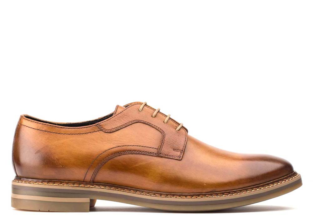Base London Washed Tan Spencer Brogues