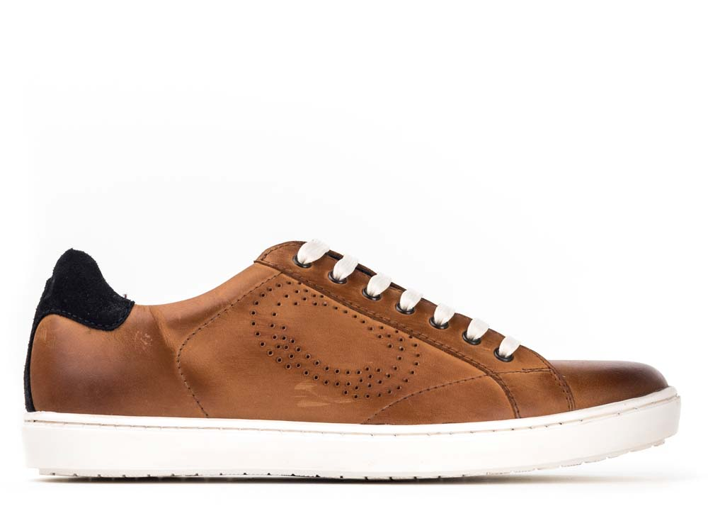 Base London Waxy Tan Wafer Leather Trainers
