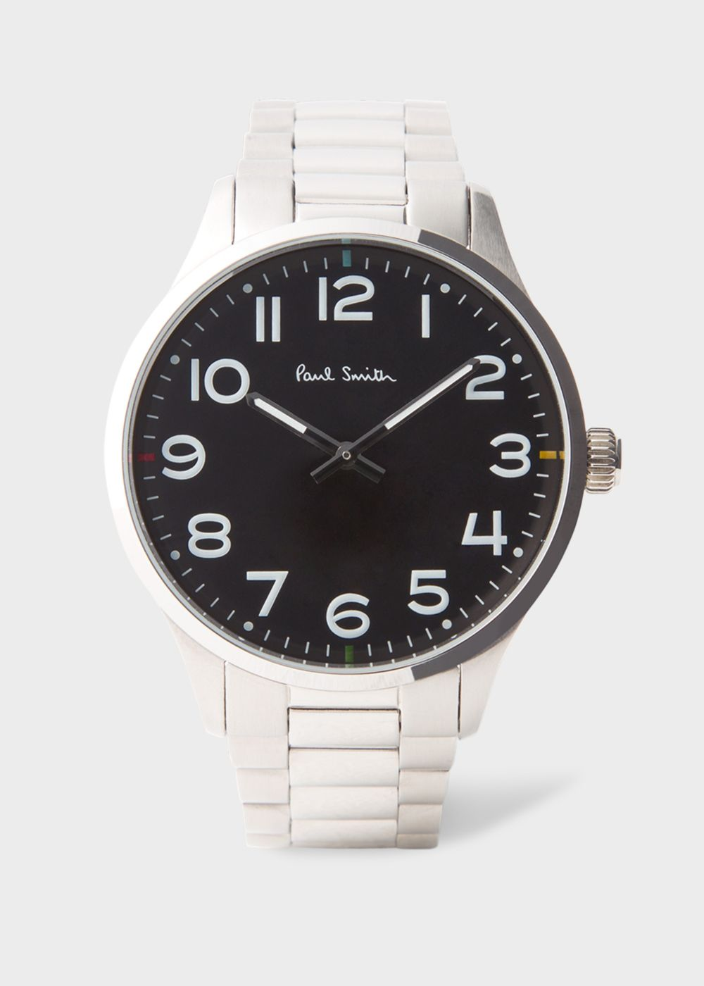 Paul Smith Men's Black And Stainless Steel 'Tempo' Watch