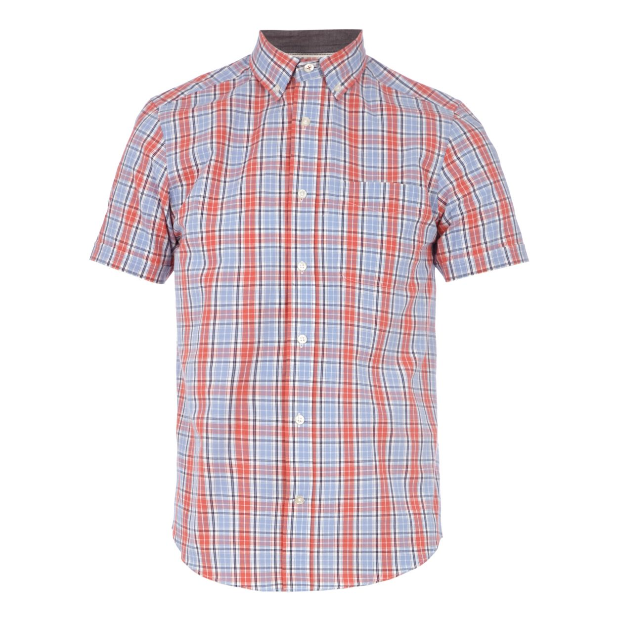 Maine New England Red checked tailored fit shirt