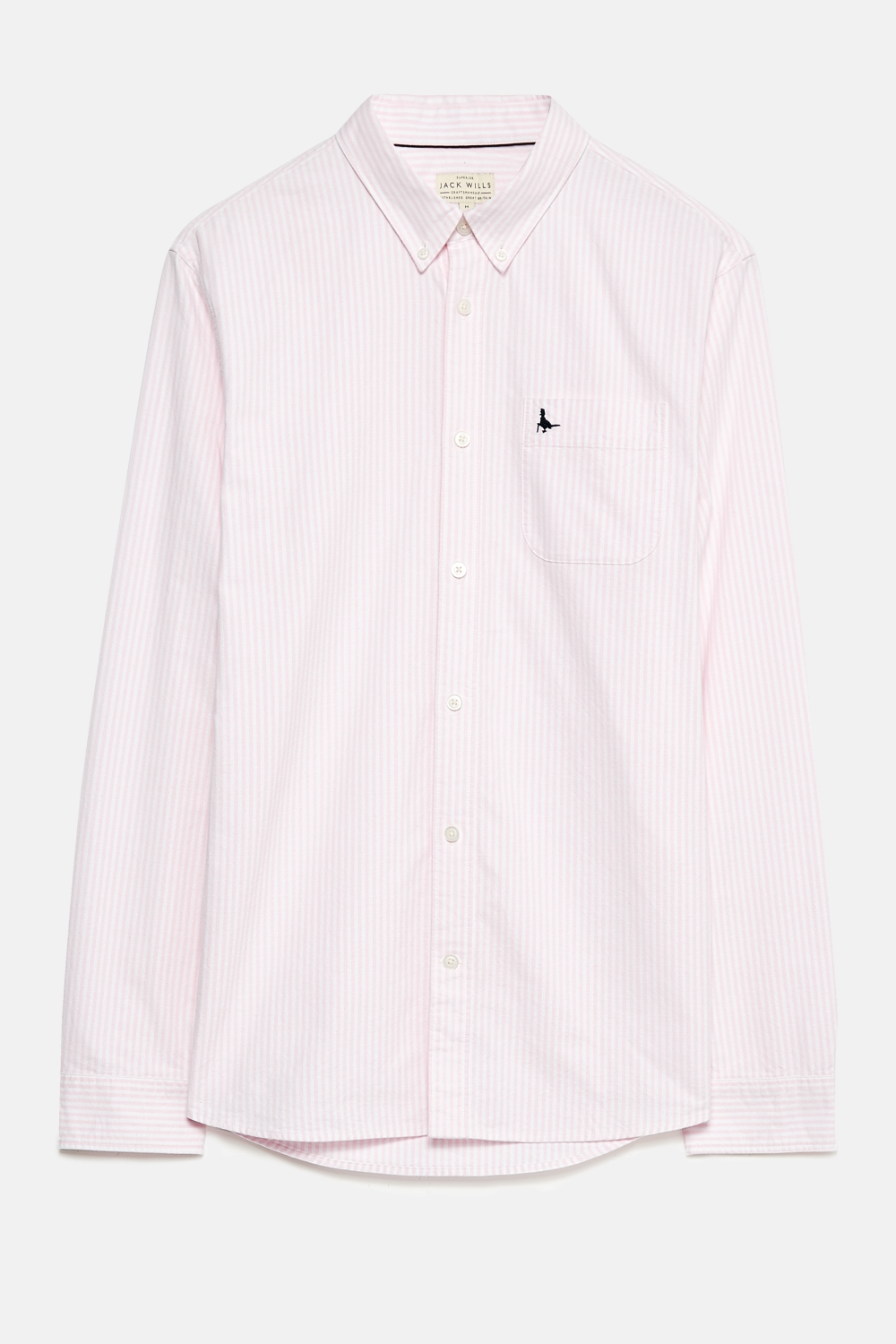 Jack Wills Pink WADSWORTH OXFORD STRIPE SHIRT