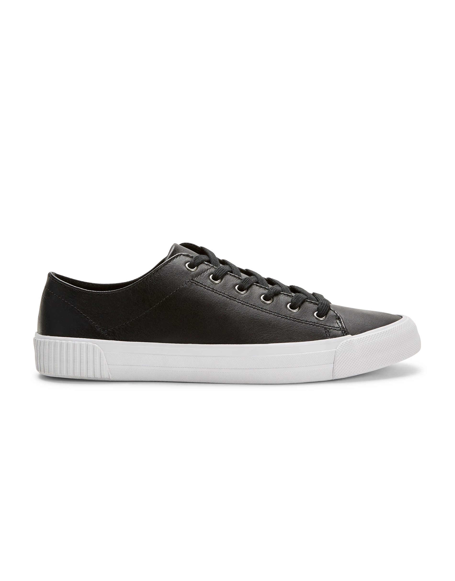MVP Black Leather Plimsoll