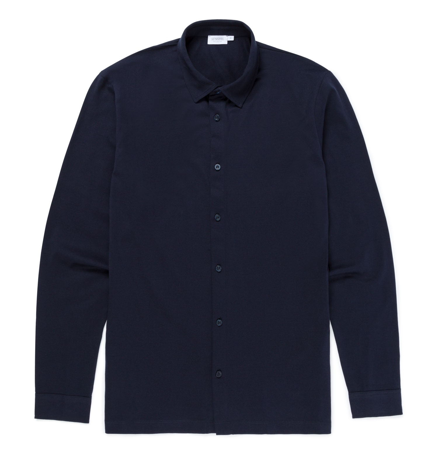 Sunspel Navy Men's Cotton Jersey Shirt