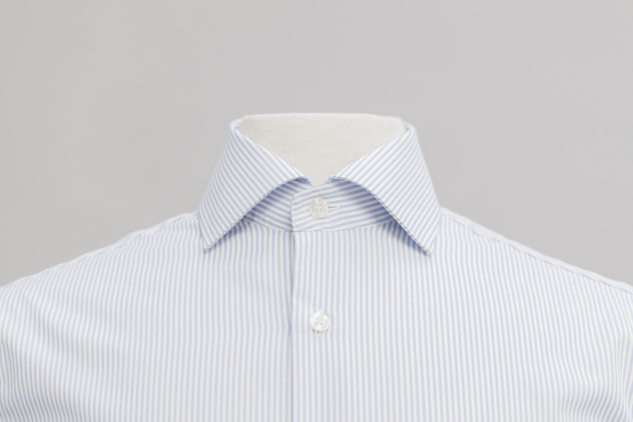 Smyth & Gibson Non-Iron Bengal Stripe Contemporary Fit Shirt in Sky Blue
