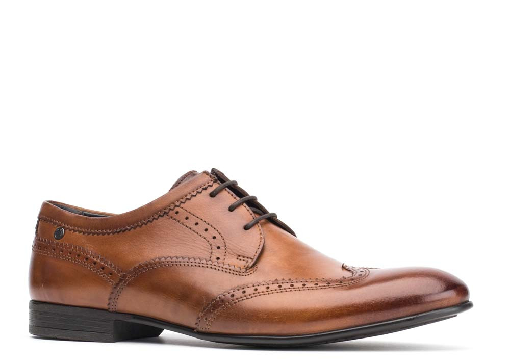 Base London Washed Tan Purcell Smart Shoes