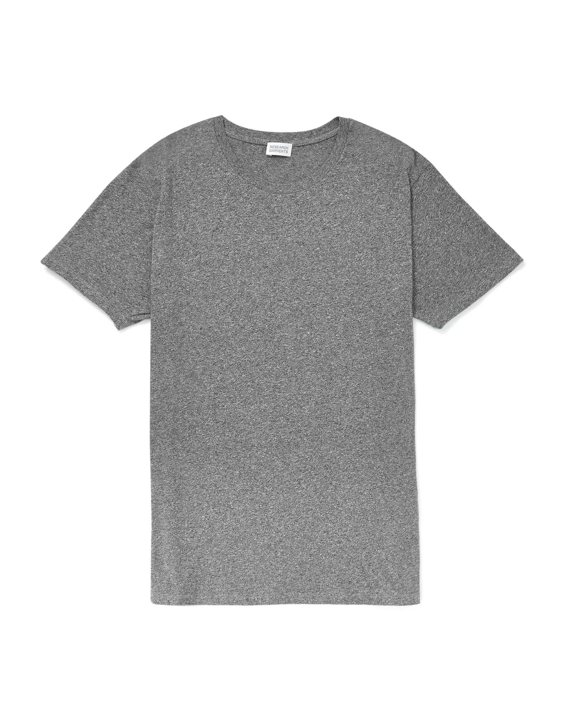 Research Garments Charcoal Marl The Perfect Textured Tee