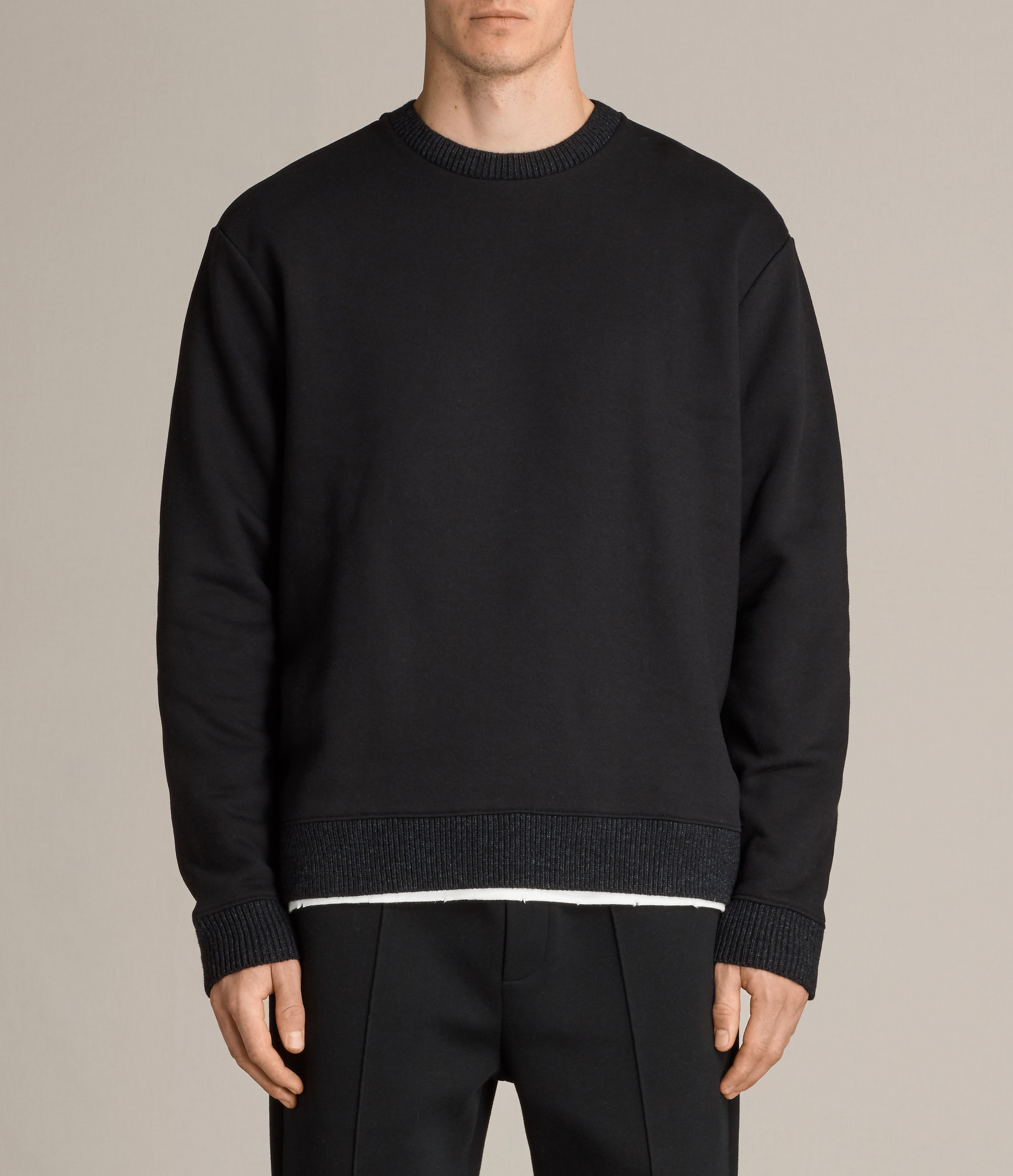 AllSaints Black Elders Crew Sweatshirt