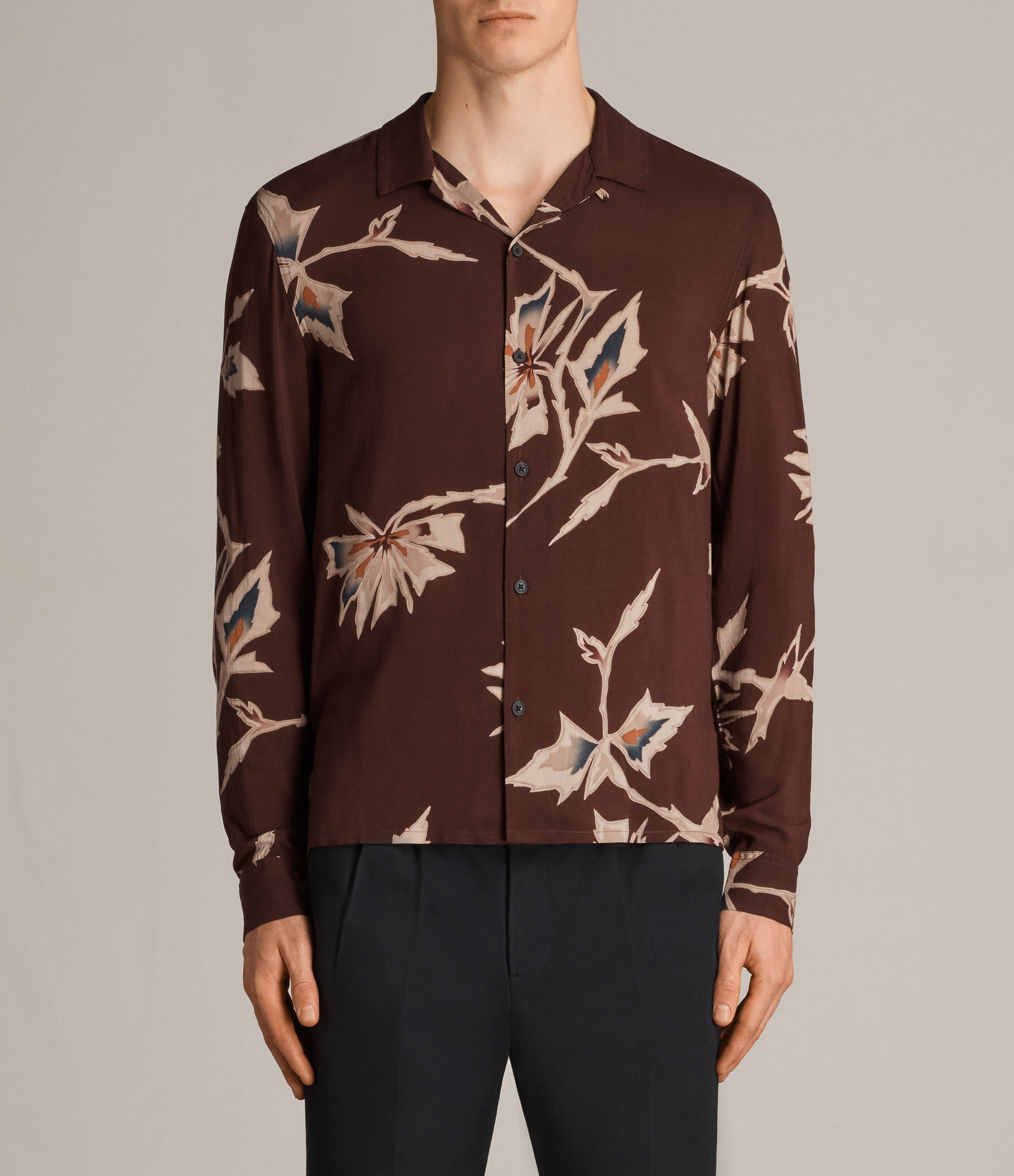 AllSaints Burnt Red Tomales Shirt