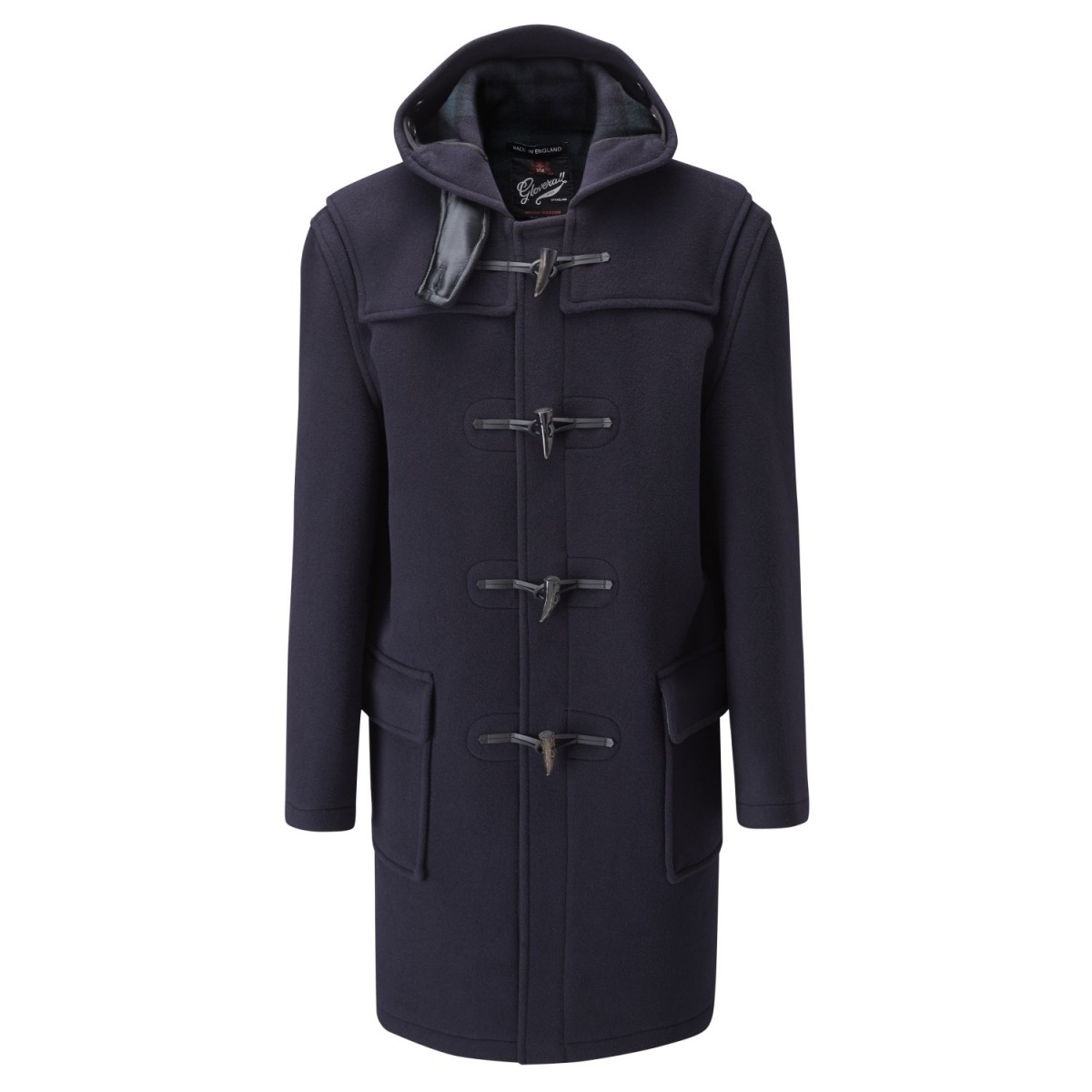 Gloverall Navy Blackwatch Classic Duffle Coat