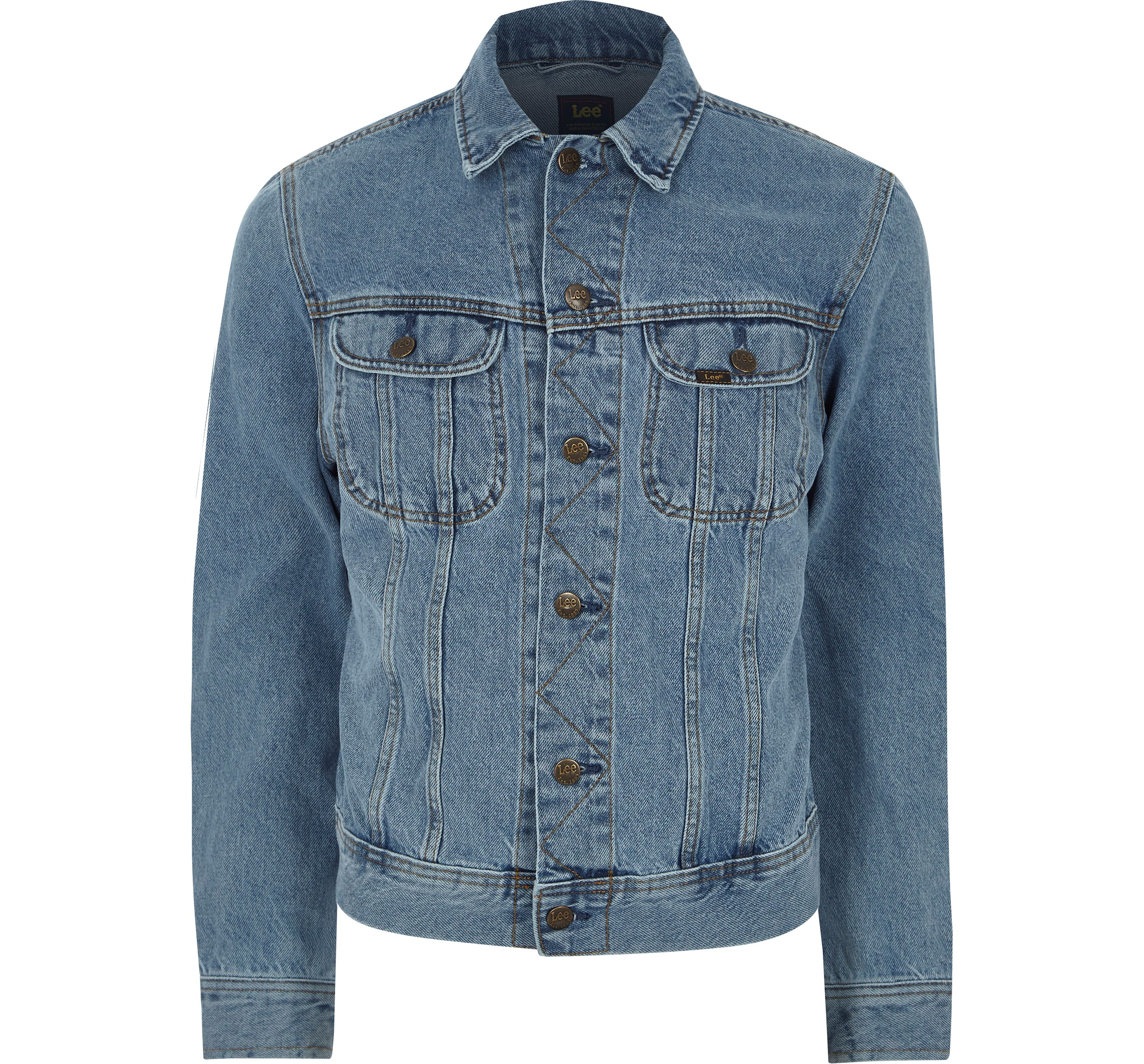 River Island Mens Lee light Blue slim fit denim jacket