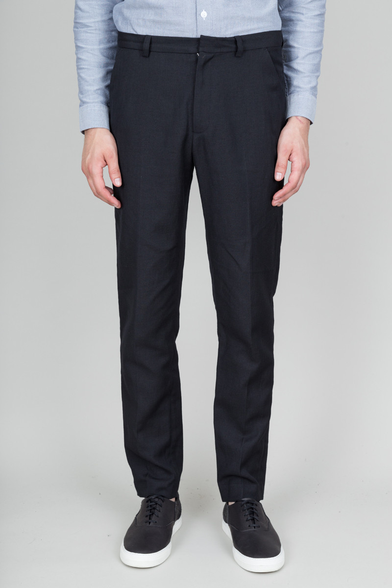 Folk Counter Trousers - Black Twill