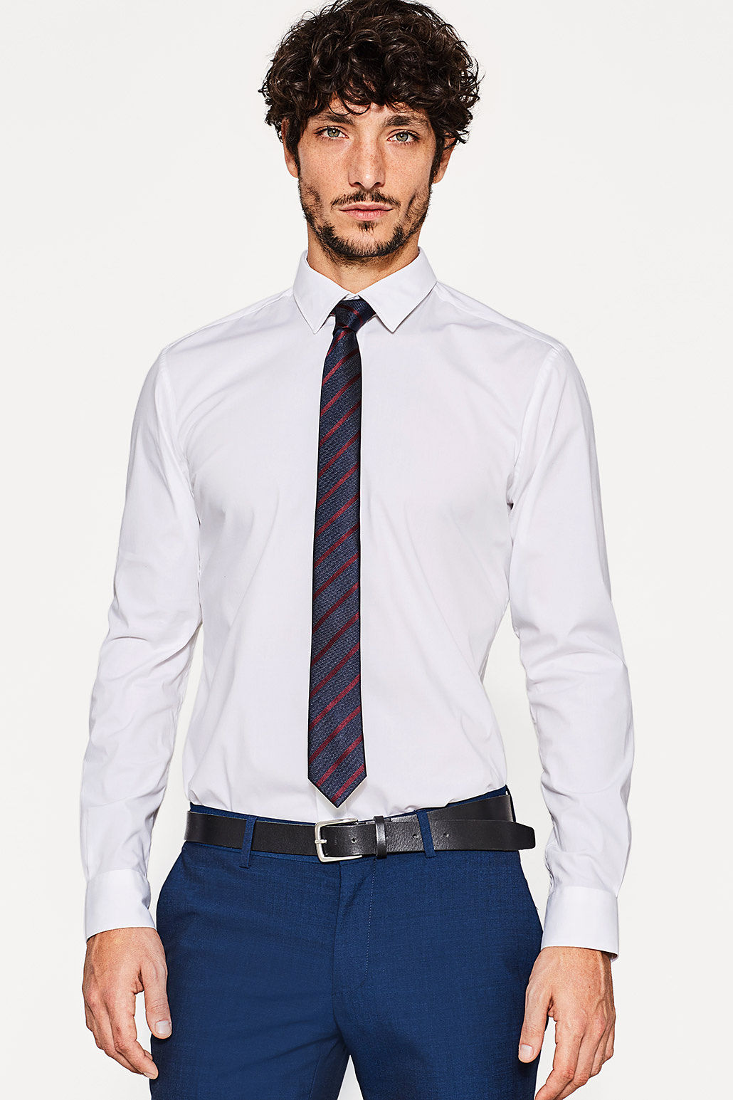 Esprit White - 100 Slim Fit Easy Iron Shirt