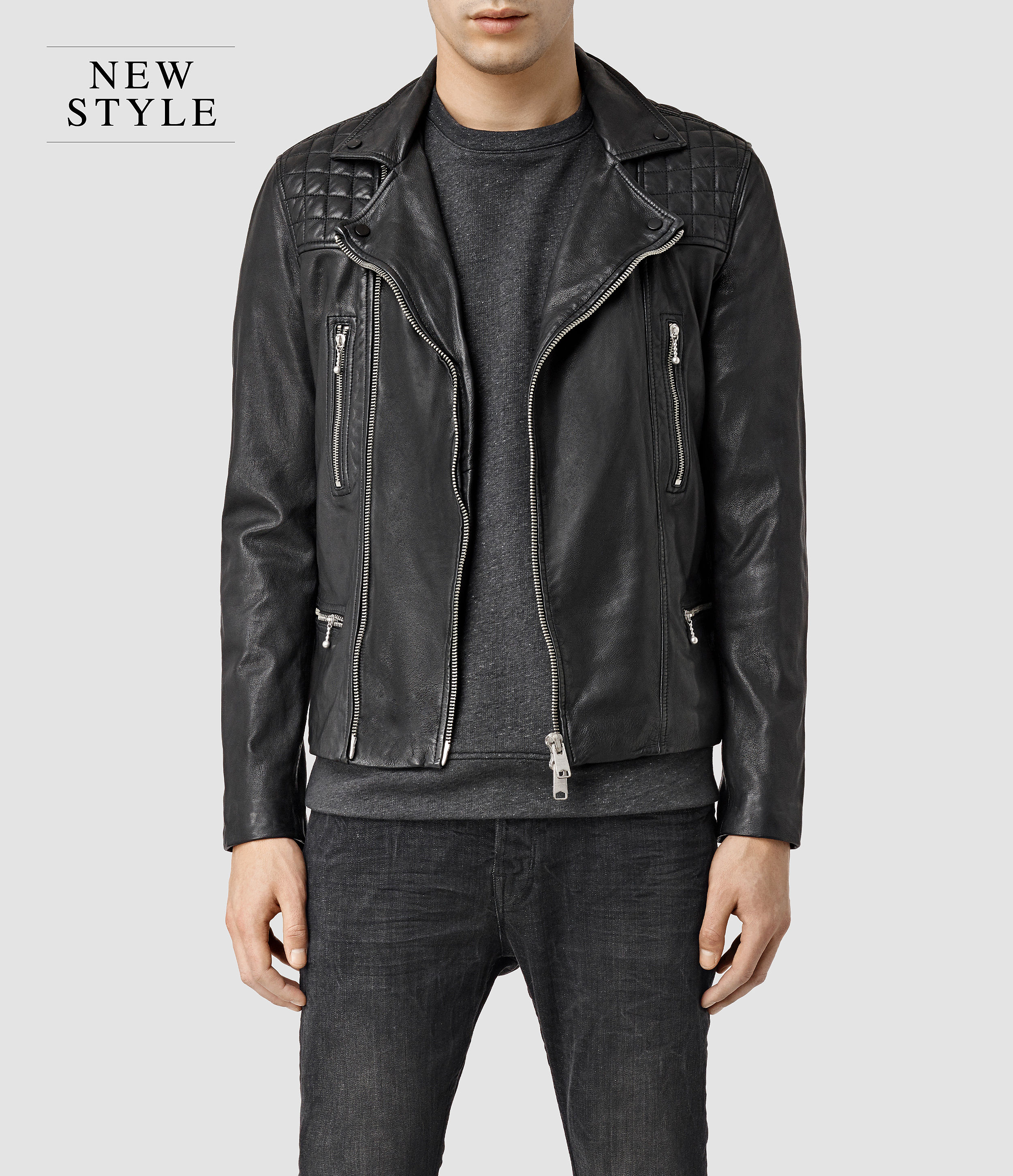 All Saints Leather Jackets For Men