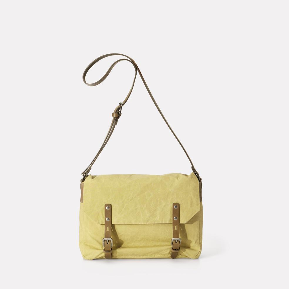 Ally Capellino Jez Waxed Cotton Satchel in Gooseberry