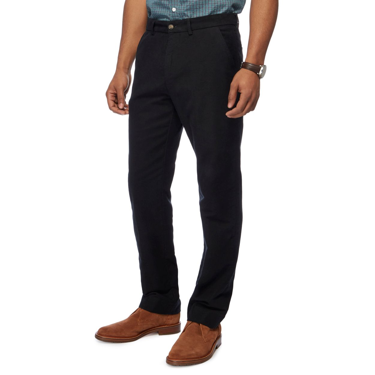 Maine New England Black moleskin trousers