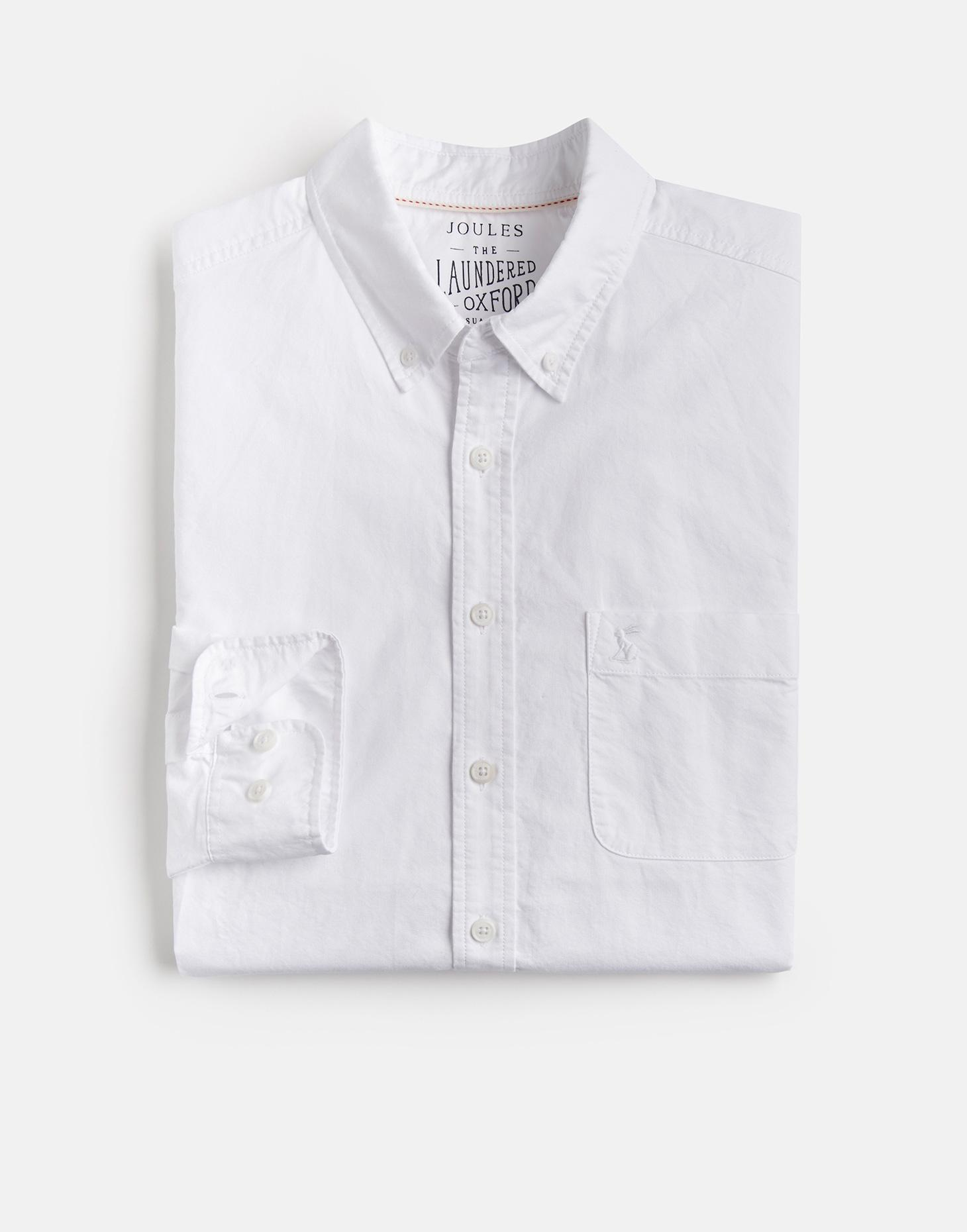 Joules White LAUNDERED SLIM Oxford Shirt