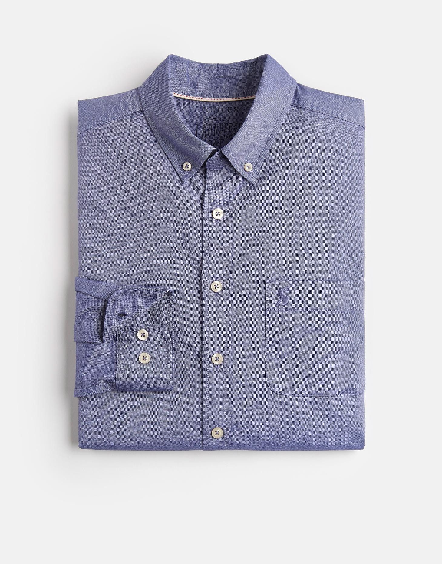 Joules Washed Blue LAUNDERED SLIM Oxford Shirt