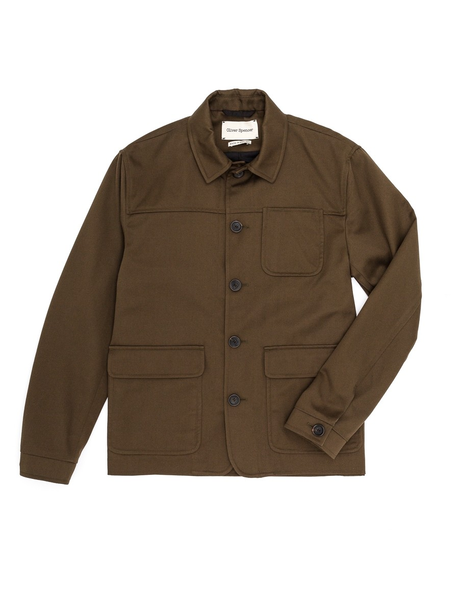 Oliver Spencer Cowboy Jacket Lingen Green