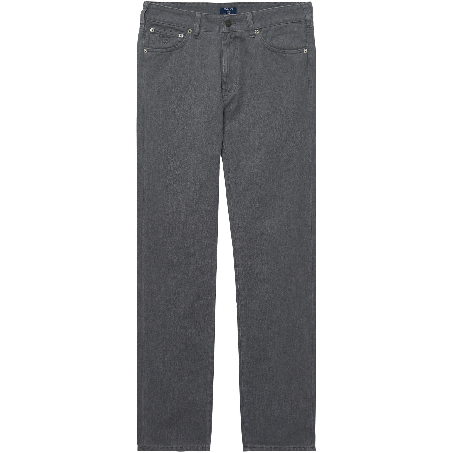 GANT Graphite Melange Regular Fit Twill Jeans