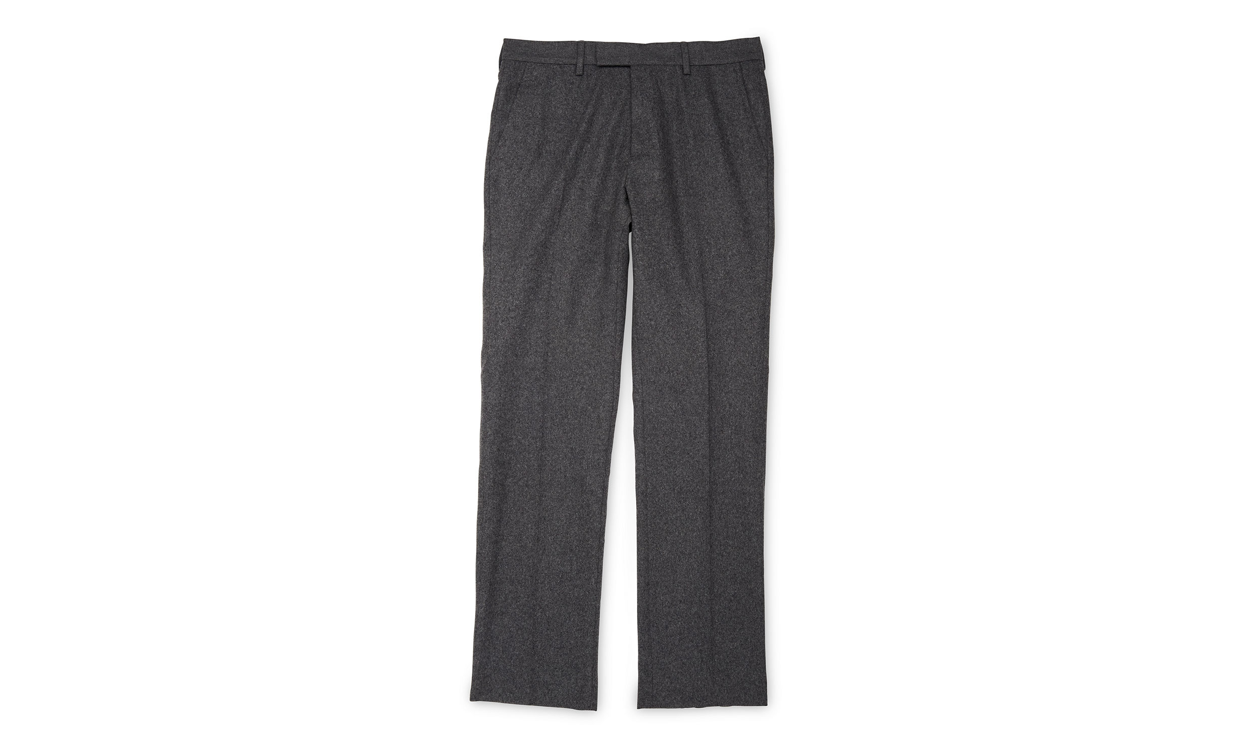 Whistles Grey Slim-fit flannel trousers