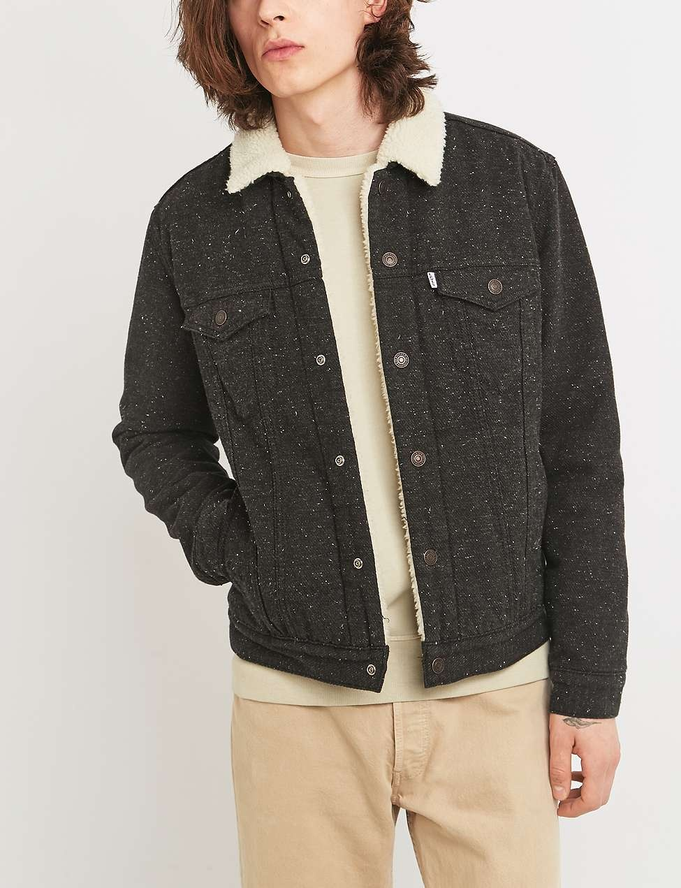 336f1c74 Type 3 Black Nep Sherpa Jacket by Levi's — Thread