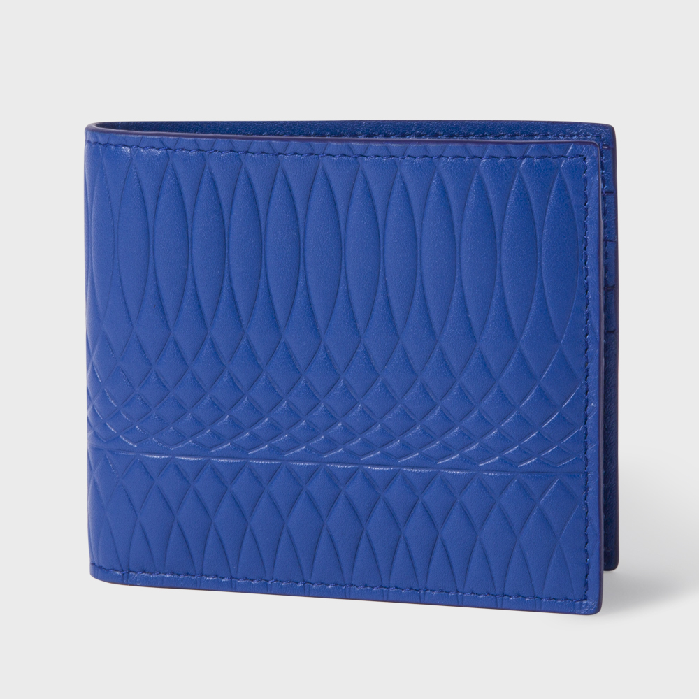 Paul Smith No.9 - Men's Blue Leather Billfold Wallet
