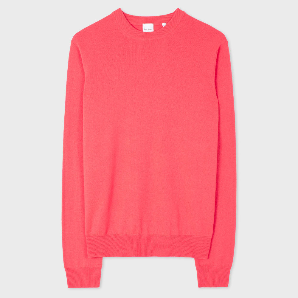 Paul Smith Men's Coral Cashmere Sweater