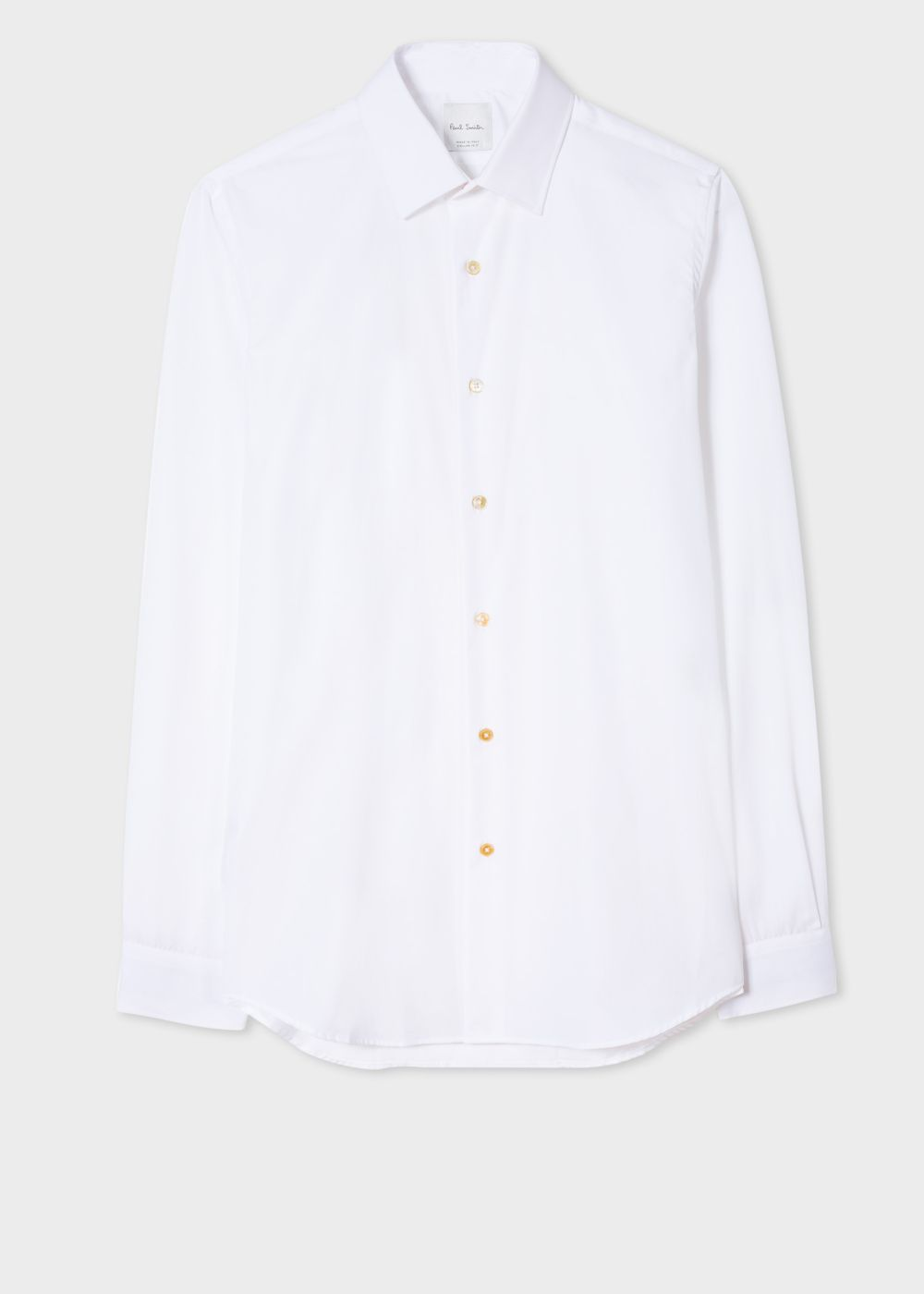 Paul Smith Men's Classic-Fit White Cotton 'Artist Stripe' Cuff Shirt