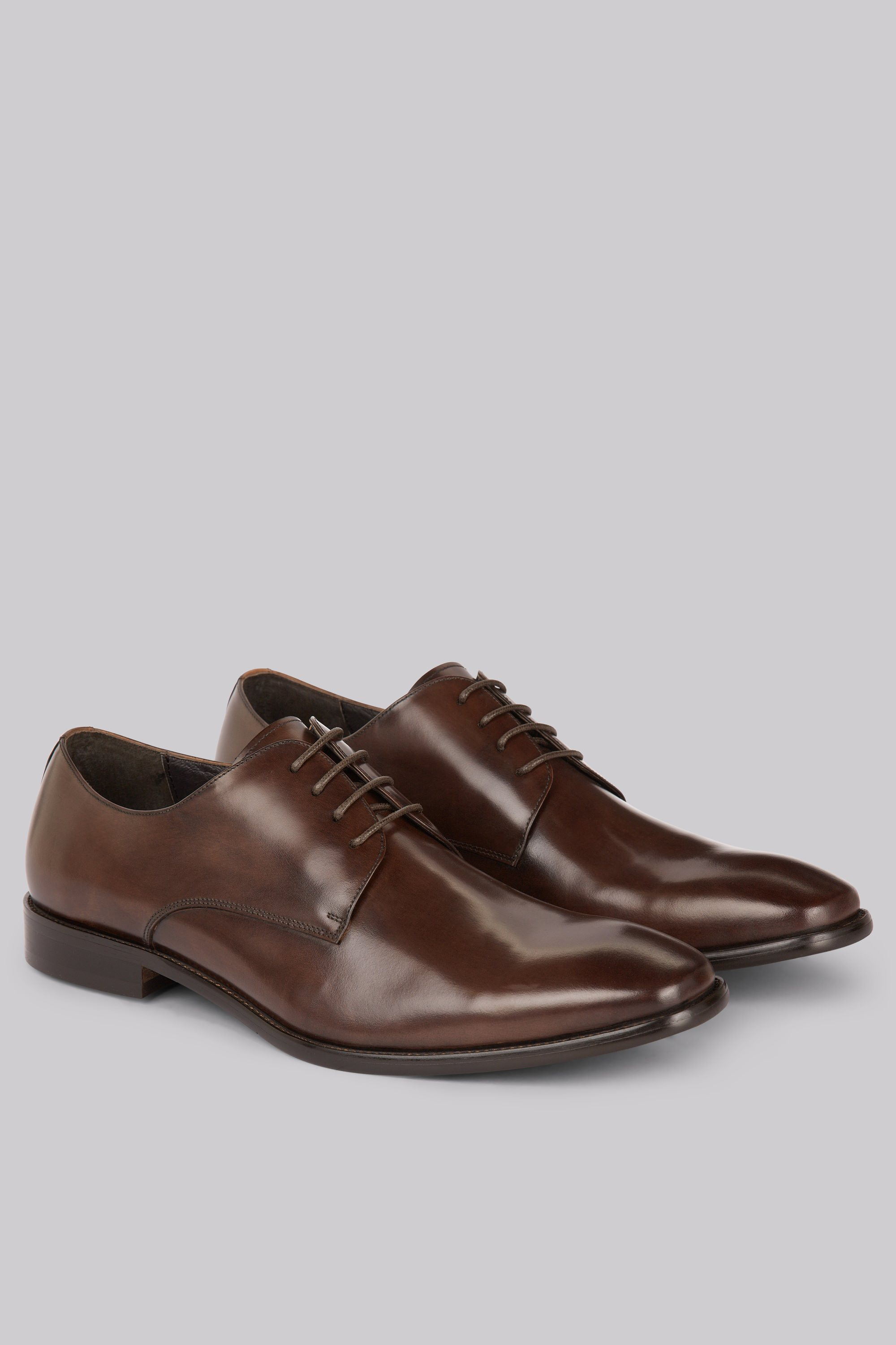 Moss Bros John White Moore Brown Derby Shoes