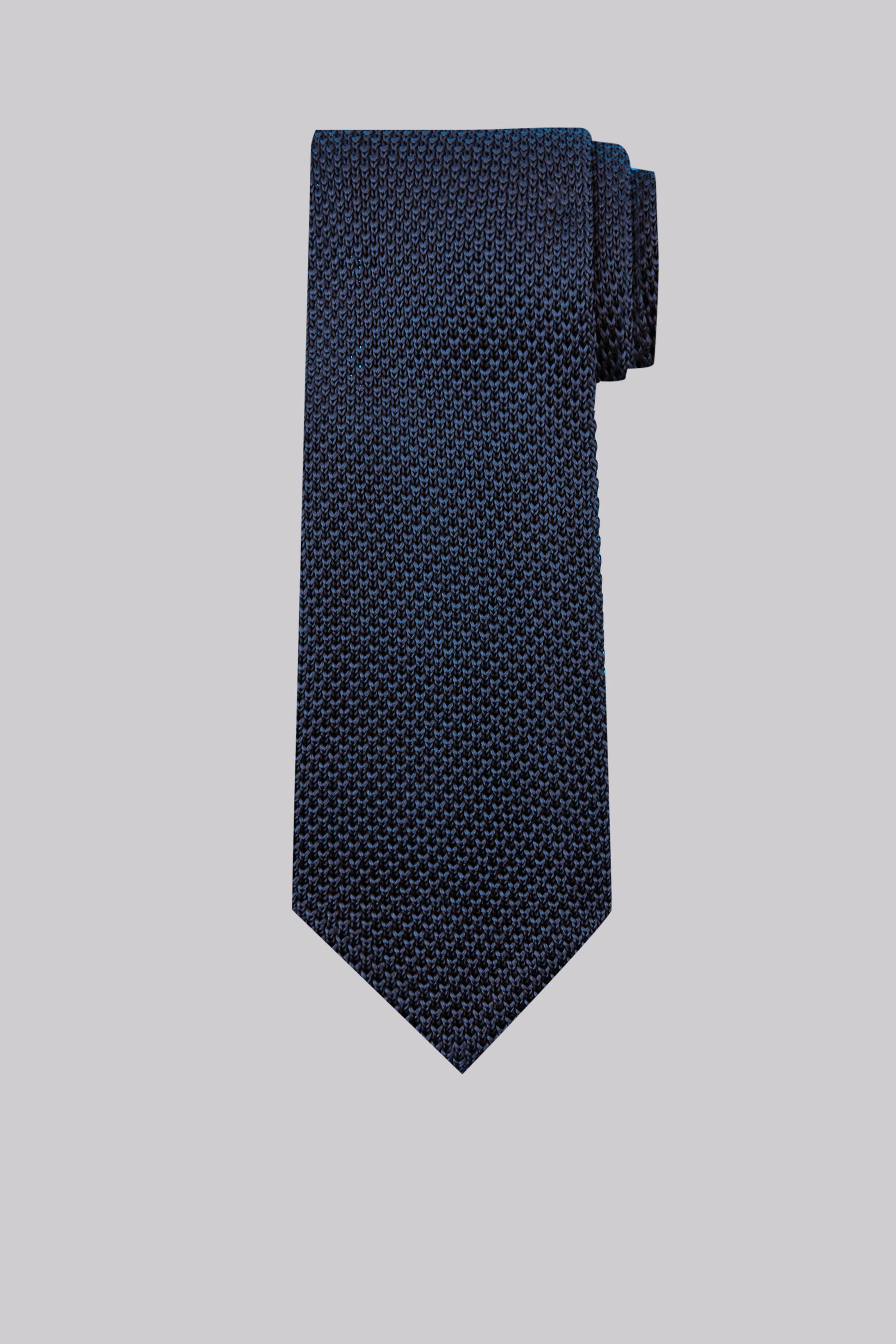 Moss Bros Moss 1851 Navy Knitted Silk Tie