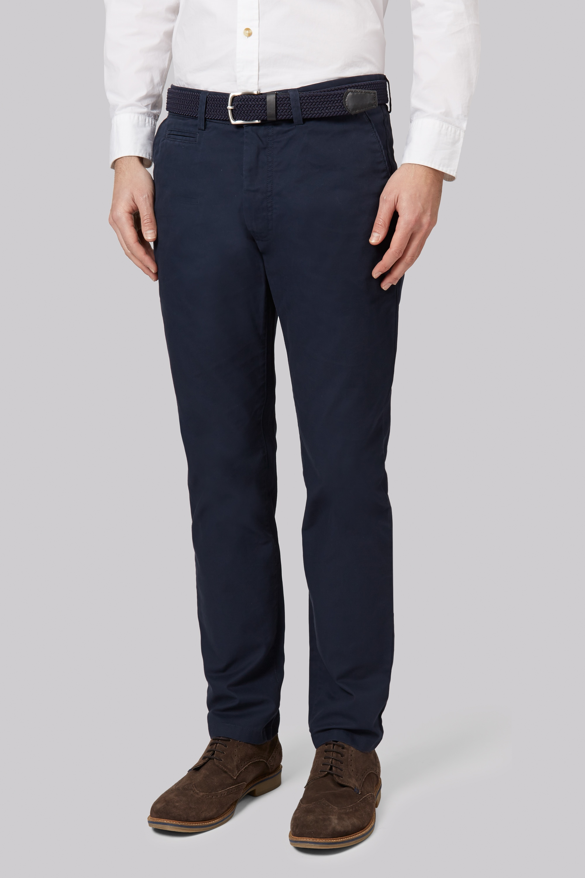 Moss Bros Moss 1851 Tailored Fit Navy Chino