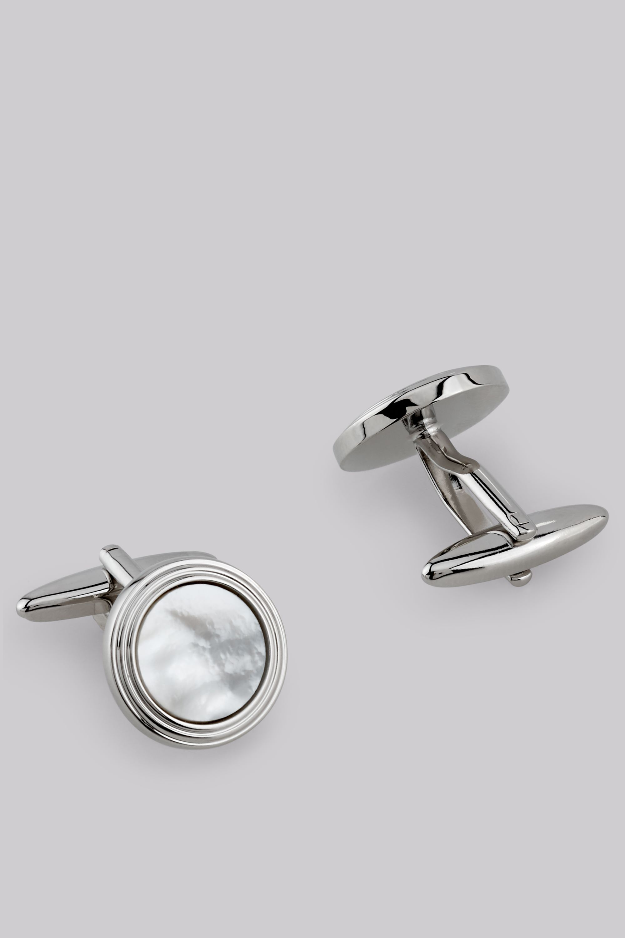 Moss Bros Moss 1851 Ivory Mother of Pearl Cufflinks