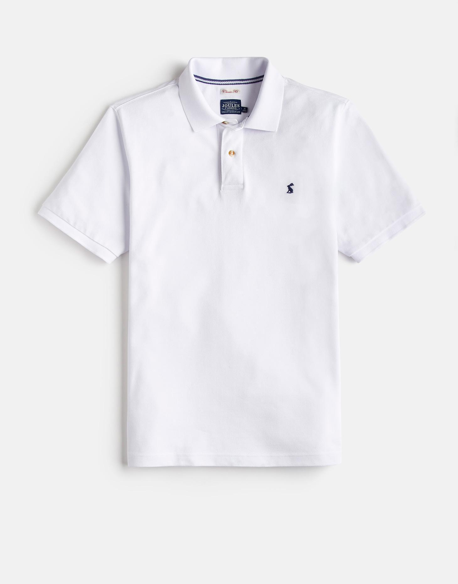 Joules White WOODY CLASSIC Fit Polo Shirt