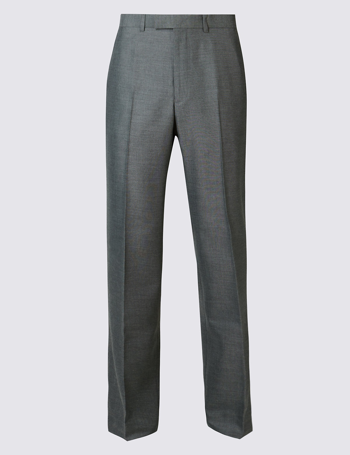 Marks & Spencer Grey Regular Fit Trousers