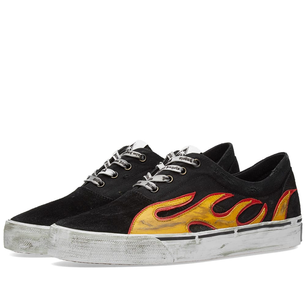 Distressed Flame Sneaker by Palm Angels