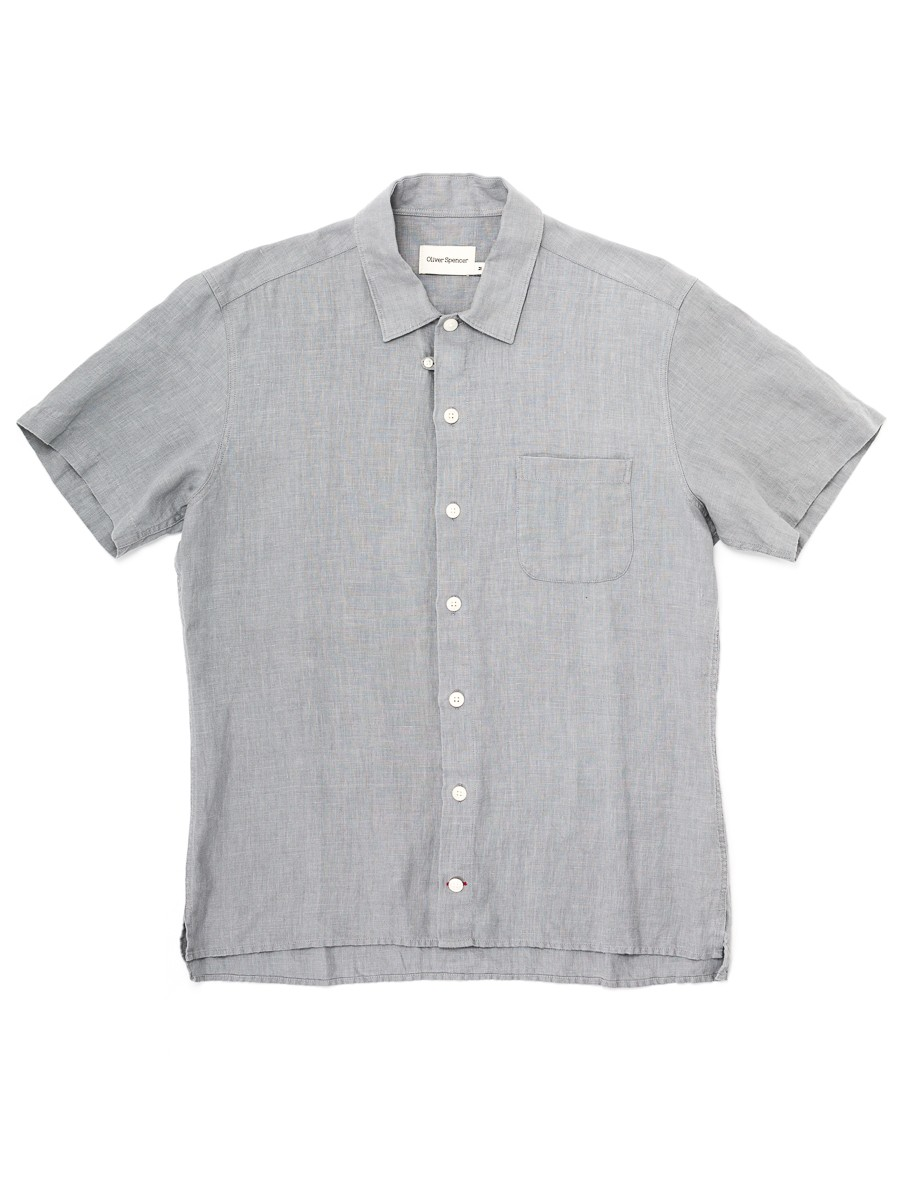 Oliver Spencer Hawaiian Shirt Linton Grey