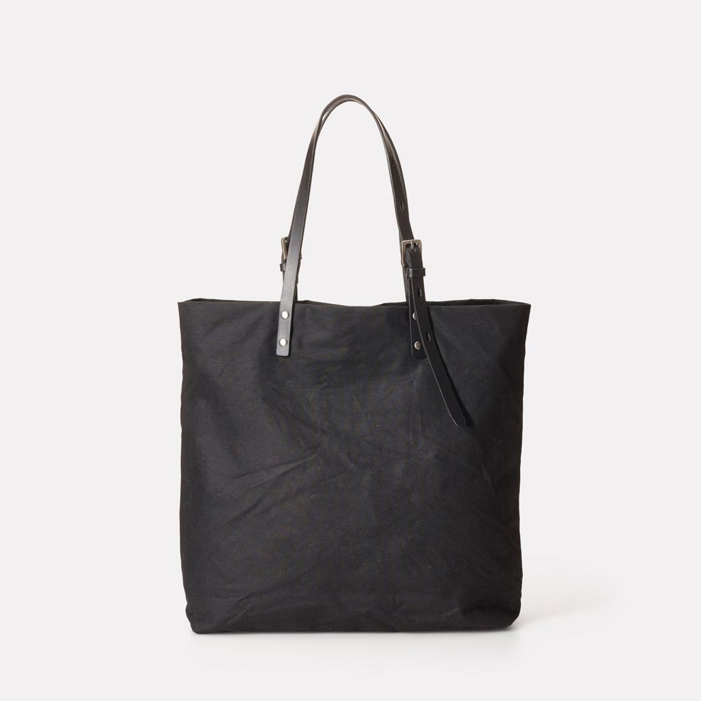 Ally Capellino Natalie Waxed Cotton Tote in Black