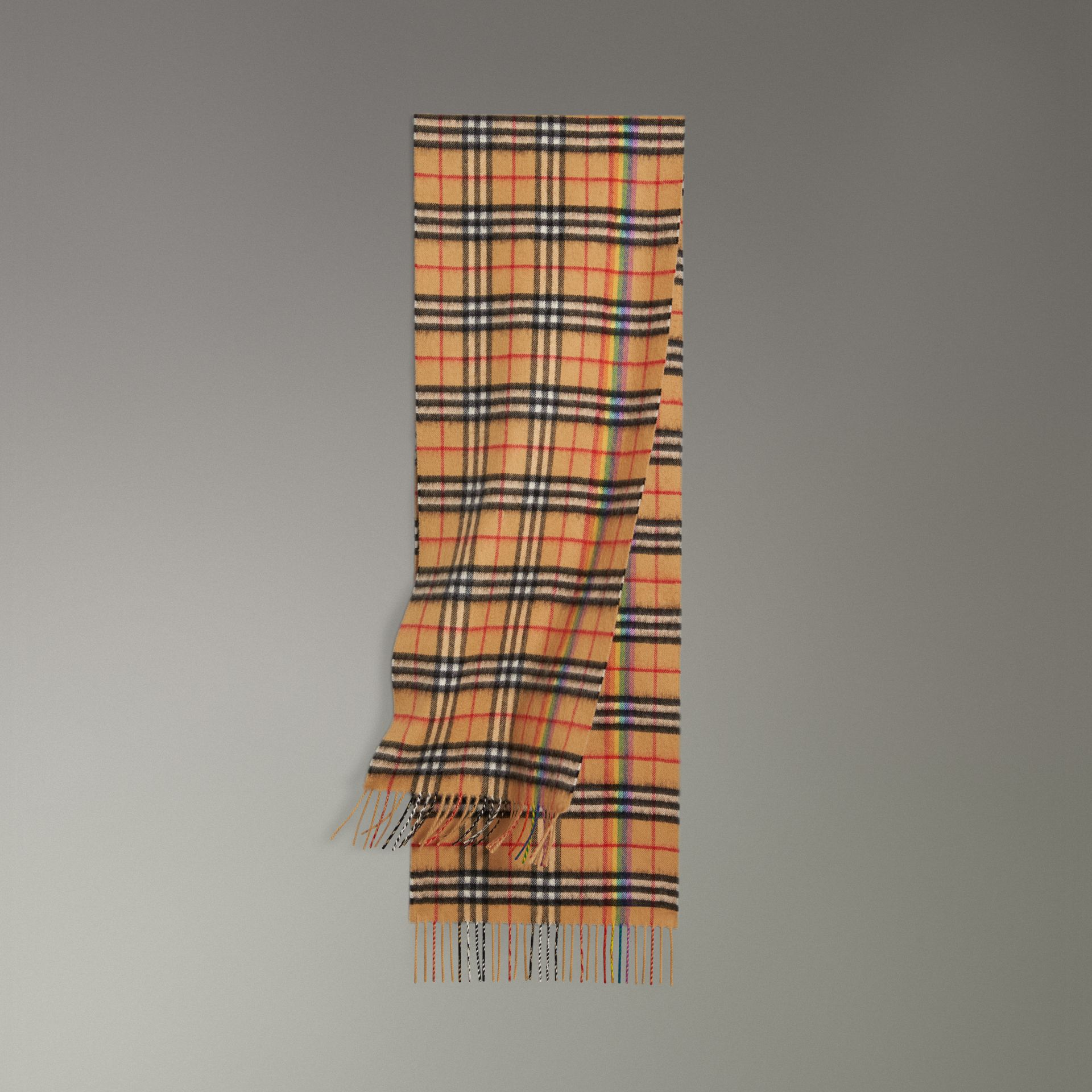 a6bcb463a036d ... store burberry antique yellow the classic rainbow vintage check  cashmere scarf 02518 3c9da ...