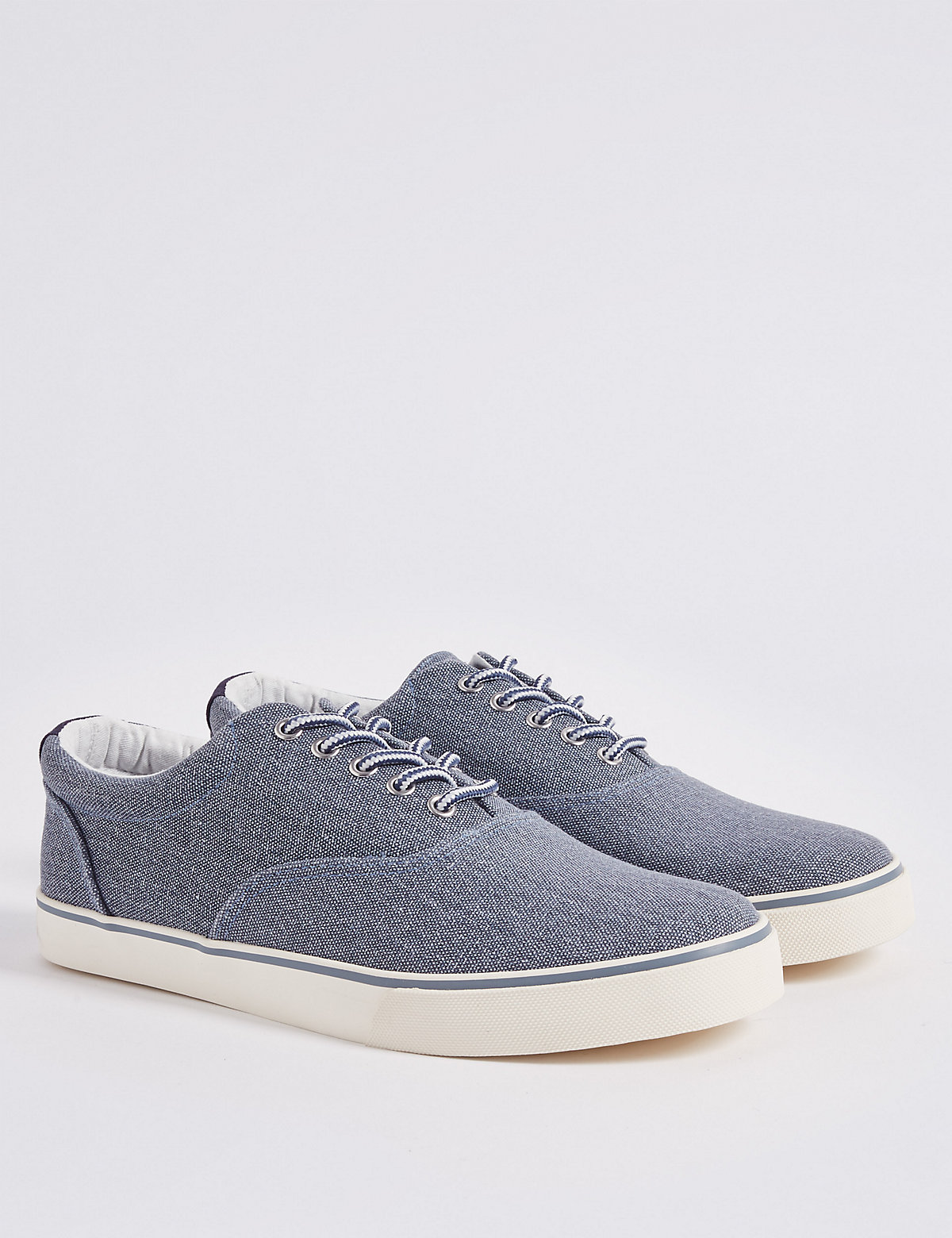 Marks & Spencer Chambray Canvas Lace-up Trainers