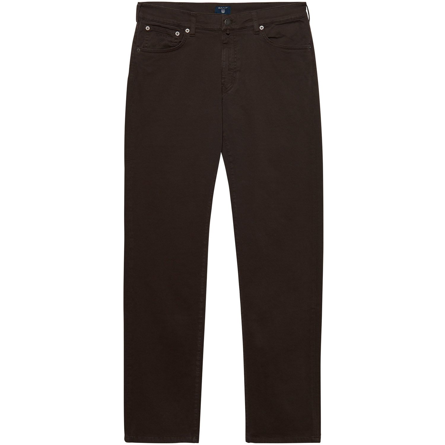 GANT Dark Brown Regular Fit Desert Twill Jeans