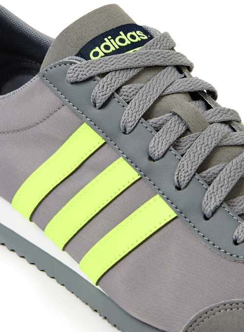 Adidas jog grey and lime green trainers