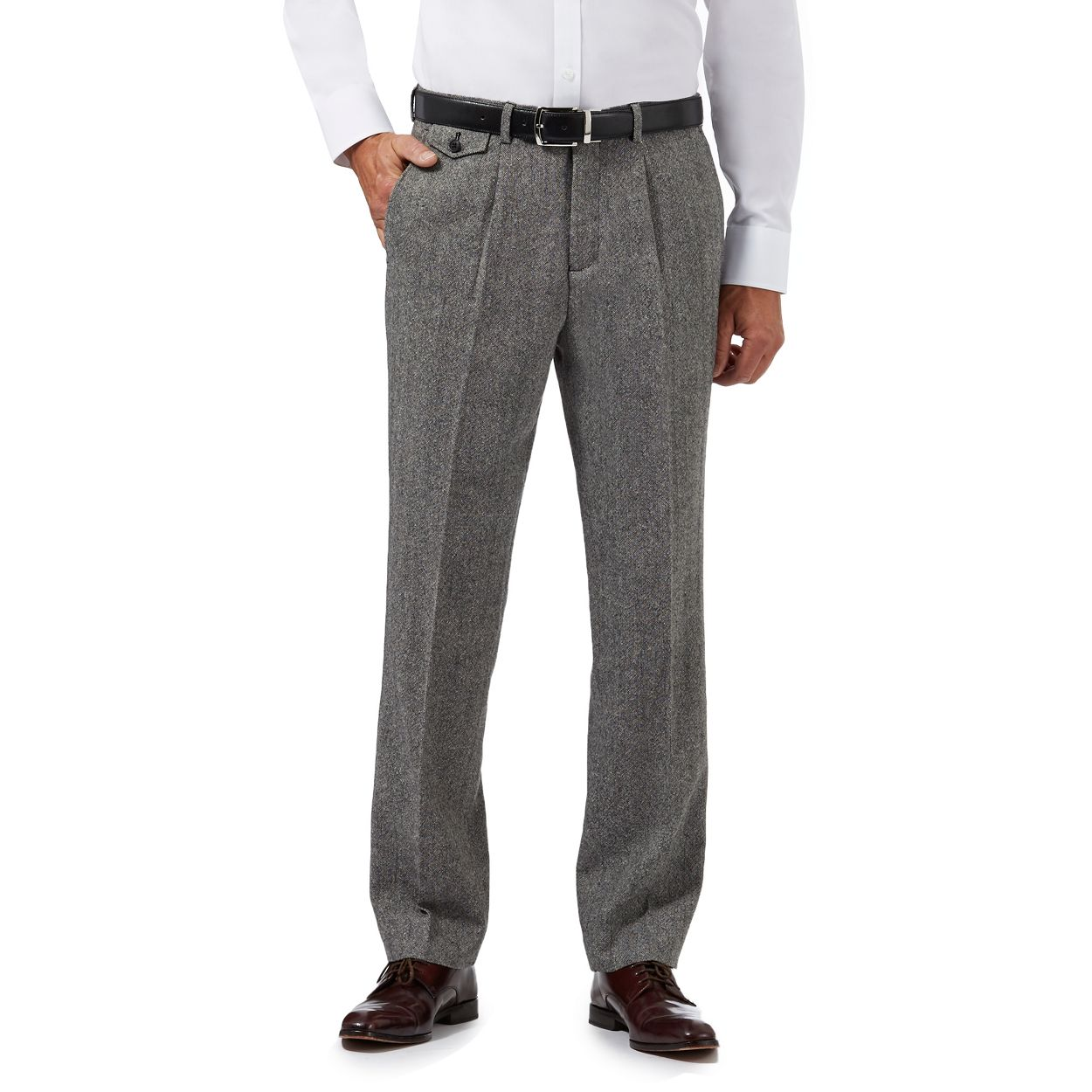 Hammond & Co. by Patrick Grant Grey Designer grey tailored trousers